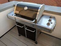 Weber Genesis E-320 Gas BBQ Grill Ready to Cook