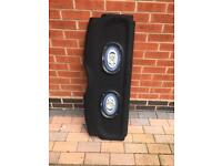 Peugeot 206 parcel shelf / load cover with speakers.