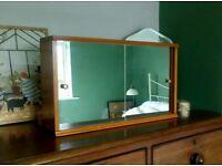 Mid century bathroom mirror cabinet cupboard