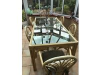 Conservatory Furniture - Dining And Sofa Set