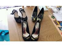 4x pairs ladies size 5 shoes