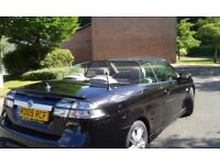 Black SAAB 9-3 Aero Convertible with cream leather interior MOT & FSH
