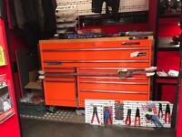 Snap on toolbox electric orange