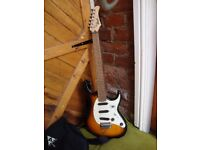 Cort G 200 Stratocaster Style,Electric Guitar,With Tone Burst Body.