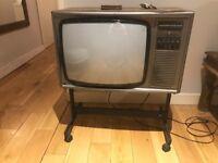 Vintage colour TV / working