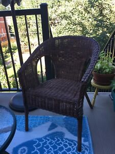 Wicker chair. Pier 1 Import (reduced price)