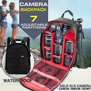 Waterproof Camera Backpack Bag Canon, Nikon or Sony 100% NEW