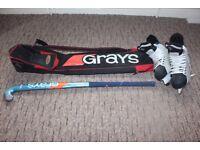 Ice Hockey Uk 8.5 Skates, Stick and Grays Carry Bag
