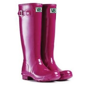 Moneysworth and Best Women's Tall Rubber Boots, Size 6 (New)