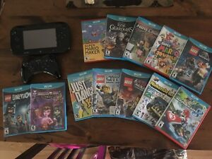 Wii U Console + Game Pad + Extra Remote + Games