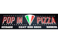 SERVERS WANTED FOR A PIZZA SHOP