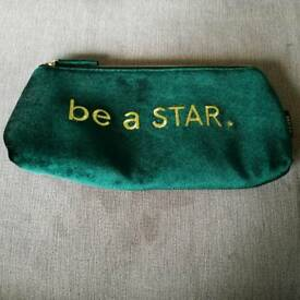 Velvet make up bag