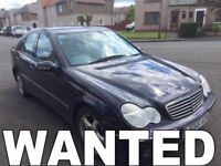 WANTED !!!! MERCEDES BENZ CAR C220 E270 ANY CONDITION