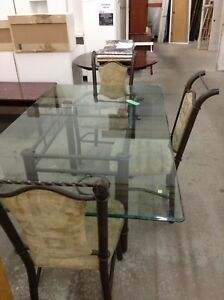 Glass Top Table at the Waterloo Restore