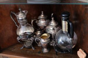 Old Silver Tea Set