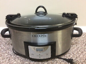 Crock pot travel slow cooker