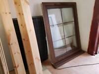 Walnut double glazed window