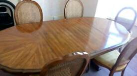 Pecan wood dining table