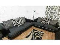 New black&Grey 4+3 seater**Free Delivery**