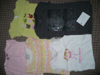 Bundle of 5 short sleeve tops/t-shirts for girl 4-5 years old. Next, H&M, F&F..