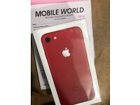 Apple iphone 7 Red brandnew 128gb sealed pack 12 month Apple warranty