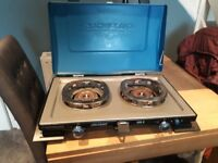Camping gas twin burner stove