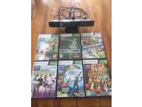 Xbox 360 Kinect with six games