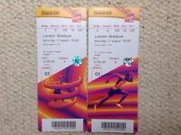 2 x Category A tickets for World Athletics - Sat 5th August - Usain Bolt in the 100m etc