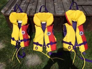 vestes de flottaison/sauvetage enfant VFI