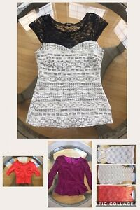 6 BEAUTIFUL Sz Small tops for $10