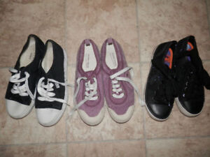 Lot of  canvas shoes and sneakers