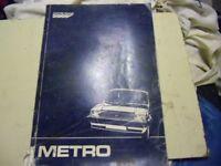 Austin Metro - Workshop manual. Austin Rover official. 1984.