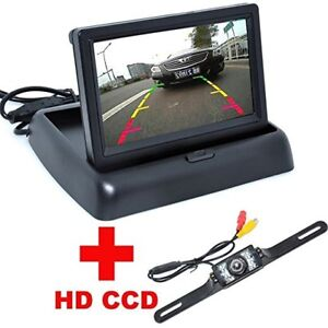 "Car Rear View Camera +4.3"" LCD Car Foldable Monitor"