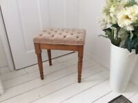 Pine Stool for a Dressing Table