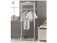 Mothercare ABC clothing rail white baby childrens furniture wardrobe