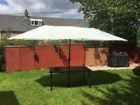 Outsunny 4.6M Patio Double Designed Sun Umbrella/ Large Garden Parasol
