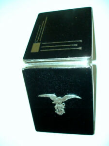 ww2 MILITARY NAVY medical corps SWEETHEART COMPACT Art Deco SILV