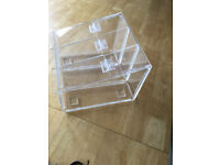 Perspex Pick and mix acrylic display holder with 3 lift up flaps - 8 No available