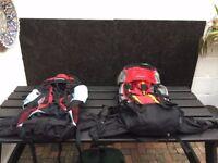 2 large new travel ruck sacks