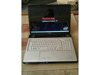 Toshiba Media Laptop...massive HD screen...windows ultimate edition....