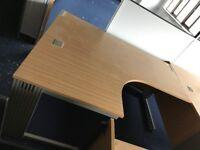 Wooden Corner Office Desk - (slightly larger), 5 available