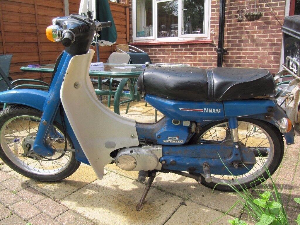 yamaha v50 m 50cc moped like honda c50 c70 c90 mot till. Black Bedroom Furniture Sets. Home Design Ideas
