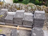 Free - 30 Grey redland stonewold concrete roof tiles