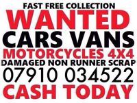 07910034522 SELL MY CAR 4x4 FOR CASH BUY YOUR SCRAP MOTORCYCLES C