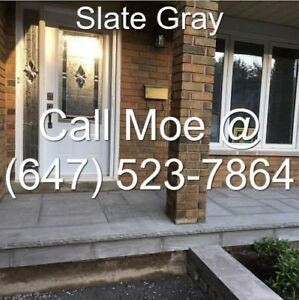 Slate Gray Flagstone Pavers Slate Grey Porch Stone Slab Tiles