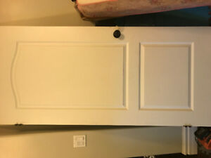 Interior painted white door 36""