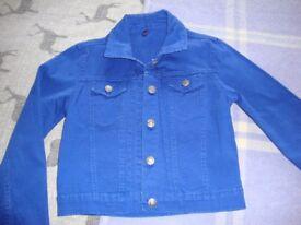 Girls denim/cotton jacket