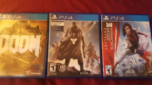 Selling these 3 games for PlayStation 4