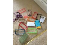 I phone 4 phone covers and long charger