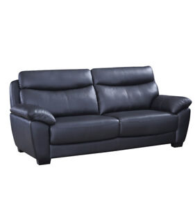 EVAN GENUINE LEATHER SOFA - $1299 NO TAX- FREE LOCAL DELIVERY